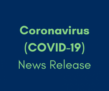 A graphic that says Coronavirus (COVID-19) News Release