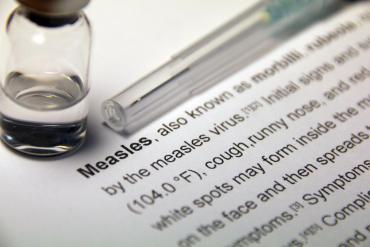 Vial of Measles vaccine