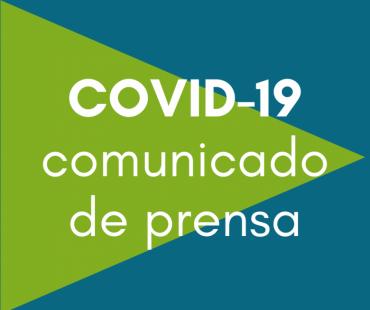 COVID-19 comunicado de prensa